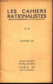 RELIGION ET RATIONALISME PAR H. ROGER / Assemblée genérale de l'Union Rationaliste du 11 janvier 1937. / N°55 - janvier 1937. - Couverture - Format classique