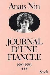 Les Jeunes années. 1. Journal d'une fiancée. 1920-1923 - Couverture - Format classique