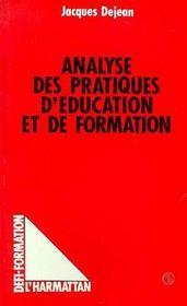 Analyse Des Prat. D'Education Et De Formation - Intérieur - Format classique