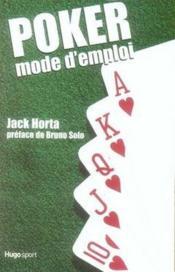 Poker mode d'emploi - Couverture - Format classique