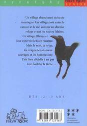 Les oiseaux du mont perdu - 4ème de couverture - Format classique