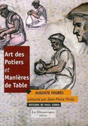 Art des potiers et manières de table - Couverture - Format classique