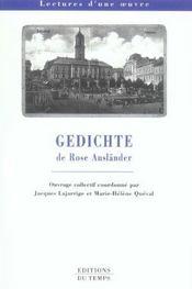 GEDICHTE DE ROSE AUSLANDER (édition 2005/2006) - Intérieur - Format classique