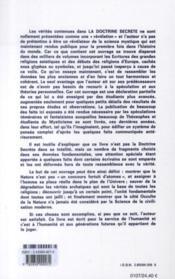 La doctrine secrète t.5 - 4ème de couverture - Format classique