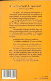 Ad aeroportum ! a l'aeroport ! : le latin d'aujourd'hui - 4ème de couverture - Format classique