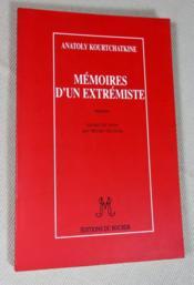 Mémoires d'un extrémiste. - Couverture - Format classique