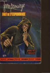 Freres Panurge Fait De L'Espionnage - Couverture - Format classique
