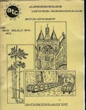 Bordeaux L'Aquitaine La Gironde -19 20 Et 21 Mai 1984 - Couverture - Format classique