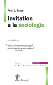 Invitation à la sociologie - Couverture - Format classique