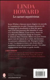 Le carnet mystérieux - 4ème de couverture - Format classique