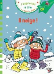 J'apprends à lire avec Sami et Julie ; il neige ! niveau 2 - Couverture - Format classique