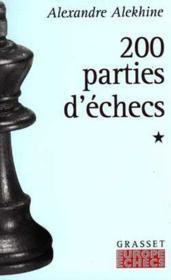 200 parties d'echecs - tome 1 - Couverture - Format classique