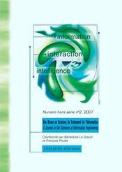 Revue I3 N.2 ; Information, Interaction, Intelligence - Intérieur - Format classique