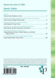 Revue I3 N.2 ; Information, Interaction, Intelligence - 4ème de couverture - Format classique
