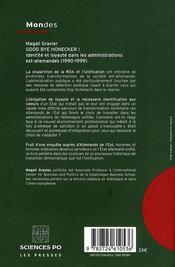 Good bye Honecker ! identité et loyauté dans les administrations est-allemandes (1990-1999) - 4ème de couverture - Format classique