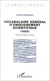 Vocabulaire général d'enseignement scientifique - Couverture - Format classique