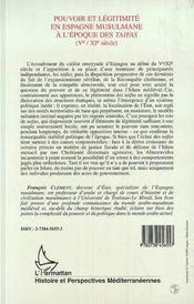 Pouvoir Et Legitimite En Espagne Musulmane A L'Epoque Des Taifas ; L'Imam Fictif - 4ème de couverture - Format classique