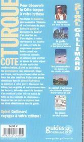 Côte turque - 4ème de couverture - Format classique