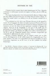 Histoire du thé (3e édition) - 4ème de couverture - Format classique