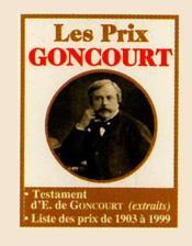 Les Prix Goncourt - Couverture - Format classique