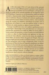 Saint-Napoléon (La) - 4ème de couverture - Format classique