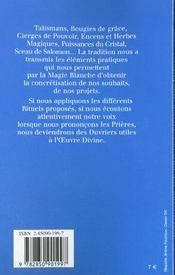 Pouvoirs et protections magiques - 4ème de couverture - Format classique
