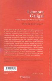 Leonora galigai - 4ème de couverture - Format classique