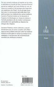 Lettres Sur La Meditation ; Le Christianisme Face Au Silence - 4ème de couverture - Format classique