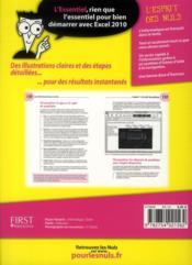 Excel 2010 l'essentiel pour les nuls - 4ème de couverture - Format classique