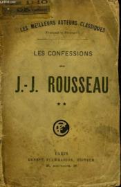 Les Confessions De J.J. Rousseau. Tome 2. - Couverture - Format classique