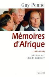 Mémoires d'Afrique 1981-1998 - Couverture - Format classique