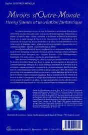 Miroirs D'Outre Monde ; Henry James Et La Creation Fantastique - 4ème de couverture - Format classique