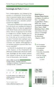 Sociologie de Paris - 4ème de couverture - Format classique