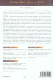 Caractere substantiel de la reglementation francaise des successions internationales - volume 31 (1re édition) - 4ème de couverture - Format classique