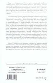 Les droits constitutionnels des travailleurs - 4ème de couverture - Format classique