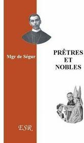 Pretres Et Nobles - Couverture - Format classique