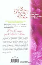 Petites Douceurs Pour L'Ame Des Meres - 4ème de couverture - Format classique