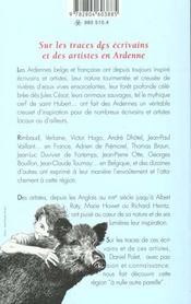 Sur Les Traces Des Ecrivains Et Des Artistes En Ardenne - 4ème de couverture - Format classique