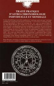 Introduction à l'astro-chronobiologie - 4ème de couverture - Format classique