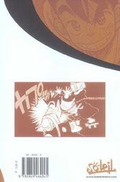 Yaiba t.4 - 4ème de couverture - Format classique