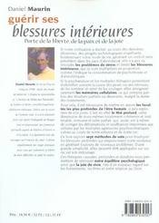 Guerir Ses Blessures Interieures N.145 - 4ème de couverture - Format classique