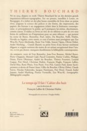 Thierry Bouchard - 4ème de couverture - Format classique