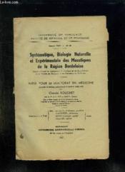 Faculte De Medecine Et De Phamacie N° 93 Annee 1957. Systematique, Biologie, Naturelle Et Experimentale Des Moustiques De La Region Bordelaise. - Couverture - Format classique