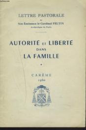 Lettre Pastorale. Autorite Et Liberte Dans La Famille. Careme 1960. - Couverture - Format classique