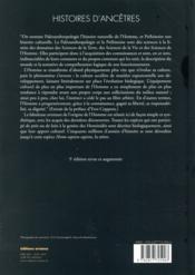 Histoire d'ancêtres ; la grande aventure de la préhistoire - 4ème de couverture - Format classique