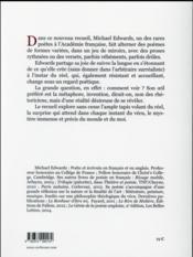L'infiniment proche - 4ème de couverture - Format classique