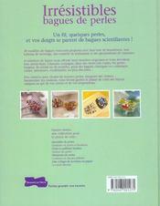 Irresistibles bagues de perles - 4ème de couverture - Format classique