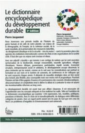 Le dictionnaire du développement durable (3e édition) - 4ème de couverture - Format classique