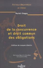 Droit de la concurrence et droit commun des obligations (1re édition) - Intérieur - Format classique