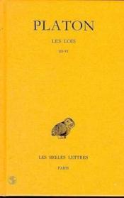 Les lois t.11 ; deuxième partie ; Livre III-VI - Couverture - Format classique